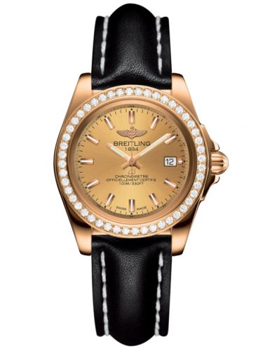 Breitling H7133053.H549.408X : Galactic 32 Sleek Edition Rose Gold / Diamond / Golden Sun / Calf