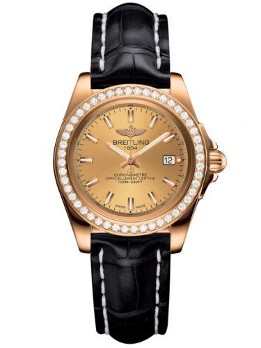 Breitling H7133053.H549.777P : Galactic 32 Sleek Edition Rose Gold / Diamond / Golden Sun / Croco