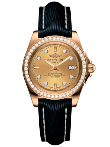 Breitling H7133053.H550.210X : Galactic 32 Sleek Edition Rose Gold / Diamond / Golden Sun Diamond / Sahara