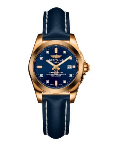 H7234812.C964.486X : Breitling Galactic 29 Rose Gold / Horizon Blue Diamond / Calf