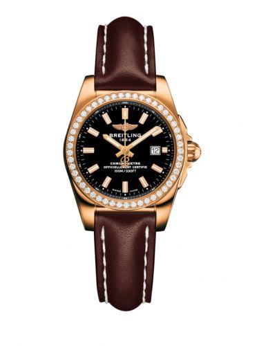 H7234853.BF32.484X : Breitling Galactic 29 Rose Gold / Diamond / Trophy Black / Calf