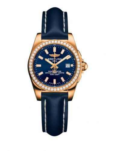 H7234853.C950.486X : Breitling Galactic 29 Rose Gold / Diamond / Horizon Blue / Calf