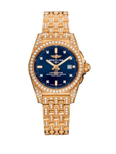 H72348AF|C964|791T : Breitling Galactic 29 Rose Gold / Diamondworks / Horizon Blue Diamond / Bracelet