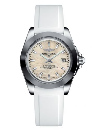 Breitling W7133012/A800/164S/A14S.1 : Galactic 32 Sleek Edition Stainless Steel / Pearl / Rubber