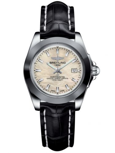 Breitling W7133012/A800/777P/A14BA.1 : Galactic 32 Sleek Edition Stainless Steel / Pearl / Croco