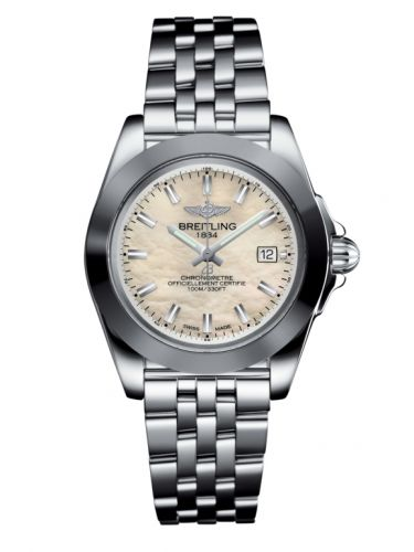 Breitling W71330121A2A1 : Galactic 32 Sleek Edition Stainless Steel / Pearl / Bracelet