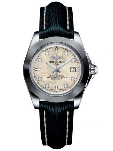 Breitling W7133012/A801/210X/A14BA.1 : Galactic 32 Sleek Edition Stainless Steel / Pearl Diamond / Sahara