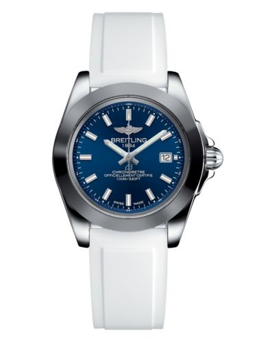 Breitling W7133012/C951/164S/A14S.1 : Galactic 32 Sleek Edition Stainless Steel / Horizon Blue / Rubber