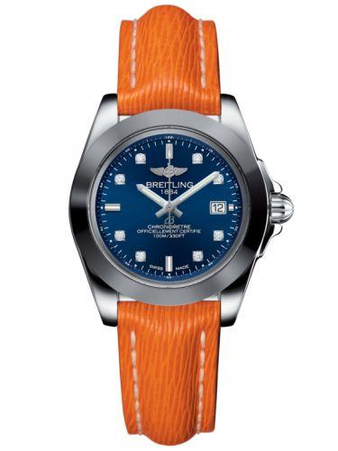 Breitling W7133012/C966/212X/A14BA.1 : Galactic 32 Sleek Edition Stainless Steel / Horizon Blue Diamond / Sahara
