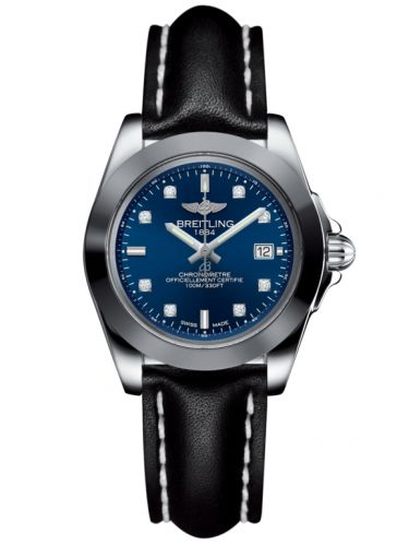 Breitling W7133012/C966/408X/A14BA.1 : Galactic 32 Sleek Edition Stainless Steel / Horizon Blue Diamond / Calf