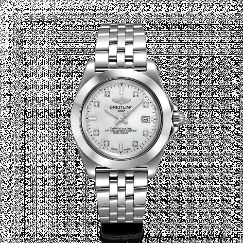 Breitling W71330121A1A1 : Galactic 32 Sleek Edition Stainless Steel / Pearl Diamond / Bracelet
