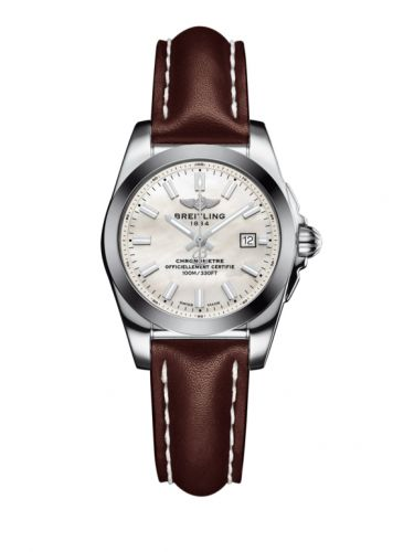 W7234812/A784/484X/A12BA.1 : Breitling Galactic 29 Stainless Steel / Pearl / Calf