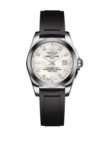 W7234812/A785/248S/A12S.1 : Breitling Galactic 29 Stainless Steel / Pearl Diamond / Rubber