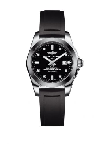 W7234812/BE50/248S/A12S.1 : Breitling Galactic 29 Stainless Steel / Trophy Black Diamond / Rubber