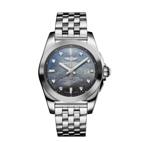 W7234812/BH27/791A : Breitling Galactic 29 Stainless Steel / Black MOP / Japan Special Edition