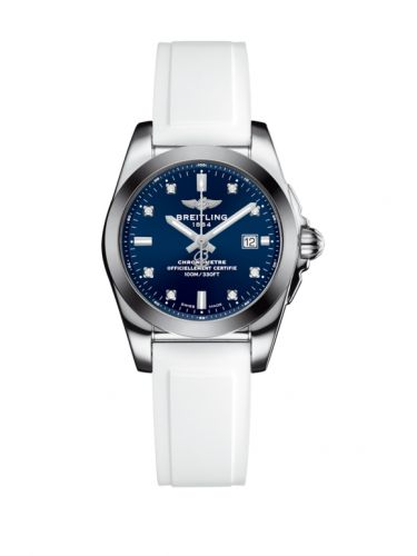 W7234812/C965/249S/A12S.1 : Breitling Galactic 29 Stainless Steel / Horizon Blue Diamond / Rubber