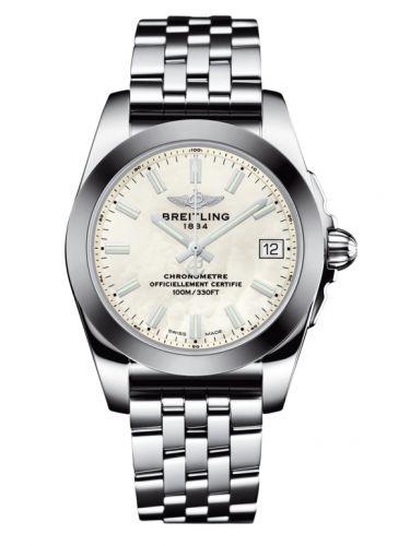 Breitling W7433012.A779.376A : Galactic 36 Stainless Steel / SleekT / Pearl / Bracelet