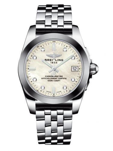 Breitling W7433012.A780.376A : Galactic 36 Stainless Steel / SleekT / Pearl Diamond / Bracelet