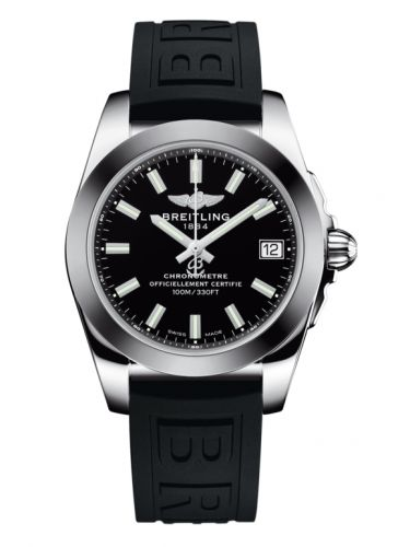 Breitling W7433012.BE08.237S : Galactic 36 Stainless Steel / SleekT / Trophy Black / Rubber