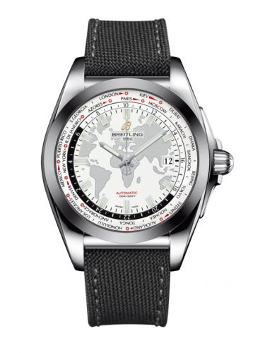 WB3510U0.A777.109W : Breitling Galactic Unitime Stainless Steel / SleekT / Antarctica White / Military