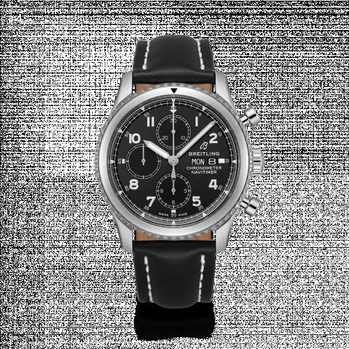 Breitling A13314101B1X1 : Navitimer 8 Chronograph 43 Stainless Steel / Black / Black Calf