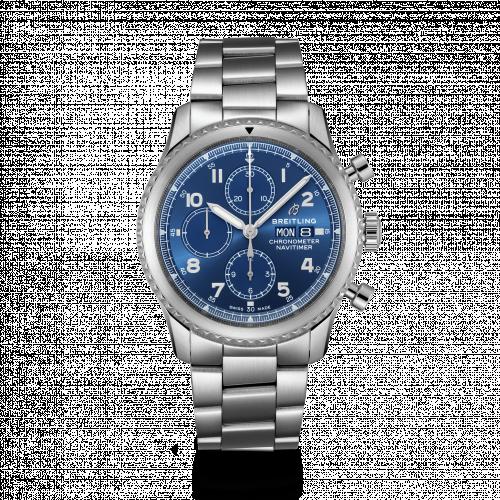 Breitling A13314101C1A1 : Navitimer 8 Chronograph 43 Stainless Steel / Blue / Bracelet