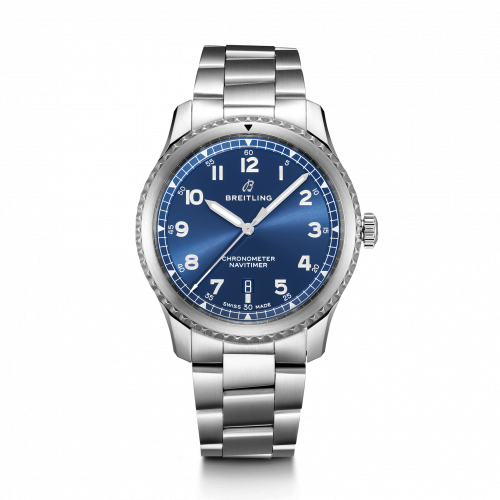 Breitling A17314101C1A1 : Navitimer 8 Automatic 41 Stainless Steel / Blue / Bracelet