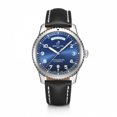 Breitling A45330101C1X1 : Navitimer 8 Automatic Day & Date 41 Stainless Steel / Blue / Black Calf / Pin