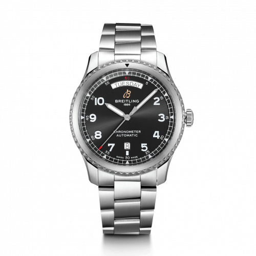 Breitling A45330101B1A1 : Navitimer 8 Automatic Day & Date 41 Stainless Steel / Black / Bracelet