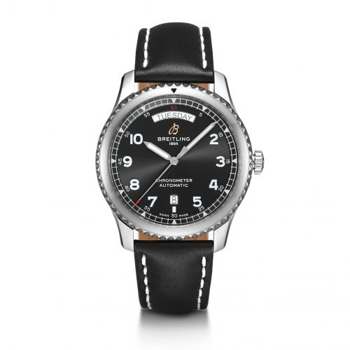 Breitling A45330101B1X1 : Navitimer 8 Automatic Day & Date 41 Stainless Steel / Black / Black Calf / Pin