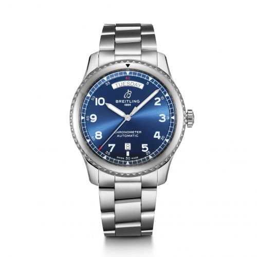 Breitling A45330101C1A1 : Navitimer 8 Automatic Day & Date 41 Stainless Steel / Blue / Bracelet
