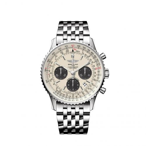 Breitling AB012012/G826/447A : Navitimer 1 B01 Chronograph 43 Stainless Steel / Silver Grey / Japan Special Edition
