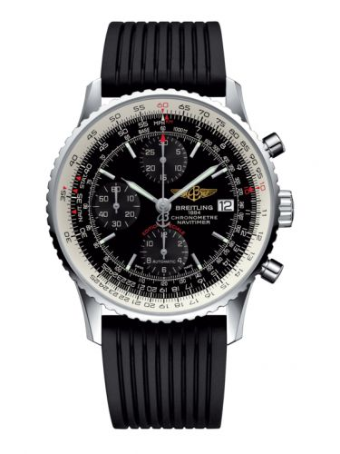 Breitling A1332412.BF27.272S : Navitimer Heritage Stainless Steel / Black / Rubber