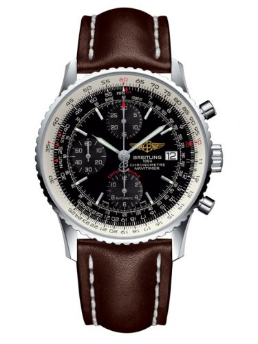 Breitling A1332412.BF27.437X : Navitimer Heritage Stainless Steel / Black / Calf