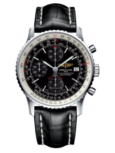 Breitling A1332412.BF27.743P : Navitimer Heritage Stainless Steel / Black / Croco