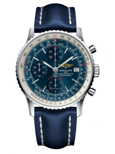 Breitling A1332412.C942.105X : Navitimer Heritage Stainless Steel / Aurora Blue / Calf