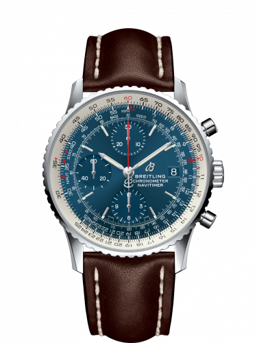Breitling A1332412/CA02/437X : Navitimer 1 Chronograph 41 Stainless Steel / Blue / Calf / Pin