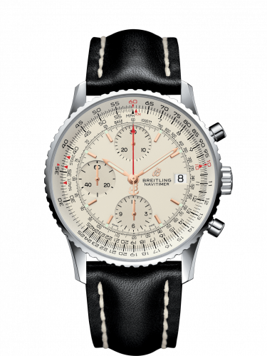 Breitling A13324121G1X2 : Navitimer 1 Chronograph 41 Stainless Steel / Silver / Calf / Pin