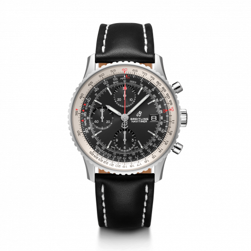Breitling A13324121B1X2 : Navitimer 1 Chronograph 41 Stainless Steel / Black / Calf / Folding