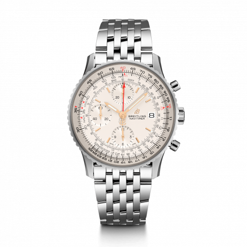 Breitling A13324121G1A1 : Navitimer 1 Chronograph 41 Stainless Steel / Silver / Bracelet