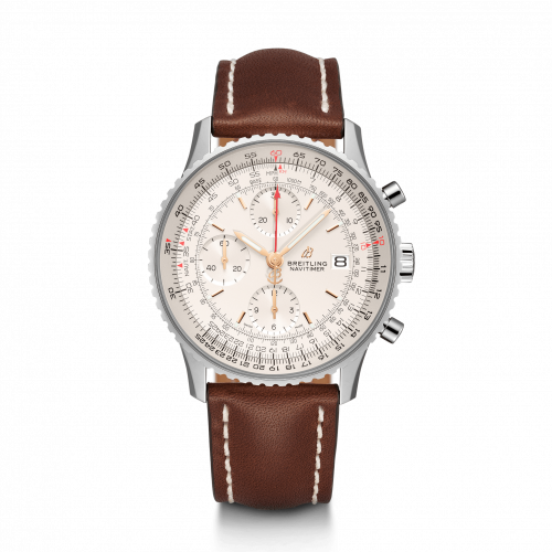 Breitling A13324121G1X3 : Navitimer 1 Chronograph 41 Stainless Steel / Silver / Calf / Folding