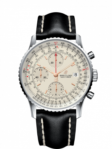 Breitling A13324121G1X4 : Navitimer 1 Chronograph 41 Stainless Steel / Silver / Calf / Folding