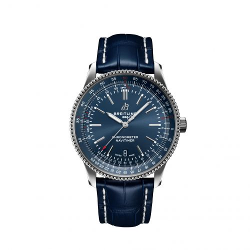 Breitling A17326161C1P3 : Navitimer Automatic 41 Automatic Stainless Steel / Blue / Croco / Pin