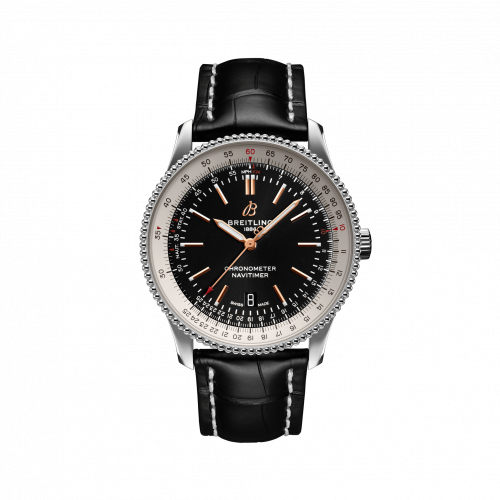 Breitling A17326211B1P1 : Navitimer Automatic 41 Automatic Stainless Steel / Black / Croco / Pin