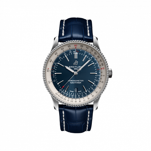 Breitling A17326211C1P4 : Navitimer Automatic 41 Automatic Stainless Steel / Blue / Croco / Folding