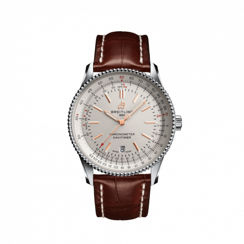 Breitling A17326211G1P2 : Navitimer Automatic 41 Automatic Stainless Steel / Silver / Croco / Folding