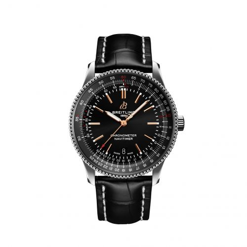 Breitling A17326241B1P1 : Navitimer Automatic 41 Automatic Stainless Steel / Black / Croco / Folding