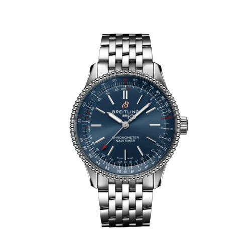 Breitling A17395161C1A1 : Navitimer 1 35 Automatic Stainless Steel / Blue / Bracelet