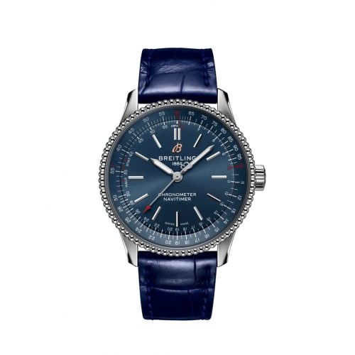 Breitling A17395161C1P2 : Navitimer 1 35 Automatic Stainless Steel / Blue / Croco / Folding