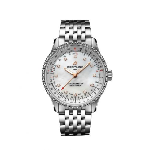 Breitling A17395211A1A1 : Navitimer 1 35 Automatic Stainless Steel / MOP / Bracelet